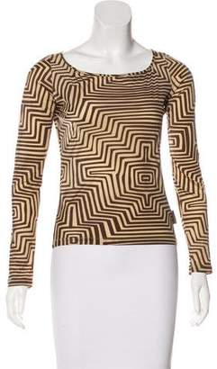 Gianfranco Ferre Printed Long Sleeve Top