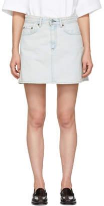 Acne Studios Blue Bla Konst Denim Mini Skirt