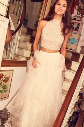 11d0b85a729 Little Mistress Tulle Cream Maxi Skirt
