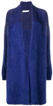 Cruciani panelled long cardigan