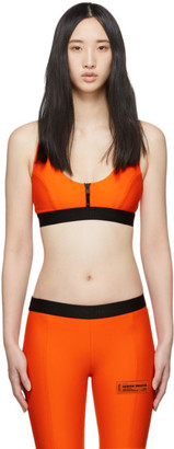 Heron Preston Orange Zipper Bra