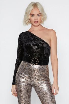 Nasty Gal Get Out Plush Velvet Bodysuit