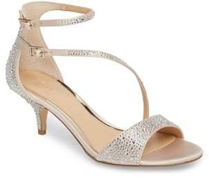 Badgley Mischka Tangerine Crystal Embellished Sandal