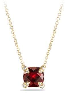 David Yurman Chatelaine Pendant Necklace with Gemstone and Diamonds in 18K Gold