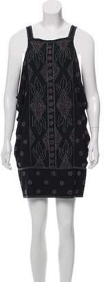 Diane von Furstenberg Embellished Silk Dress Black Embellished Silk Dress