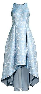 Aidan Mattox Women's Metallic Floral High-Low Dress