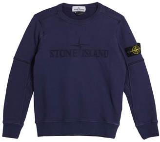 Stone Island Logo Embroidered Sweatshirt, Size 12