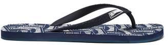Vilebrequin Logo Print Flip Flops - Mens - Blue