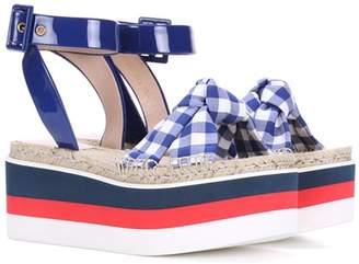 Gucci Platform espadrille sandals