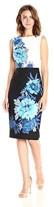 Gabby Skye Women's Floral Printed Sheath Dress