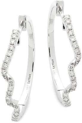 LeVian Le Vian Women's 14K Vanilla Gold & Vanilla Diamonds Hoop Earrings