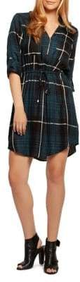 Dex Plaid Zip-Up Shirtdress