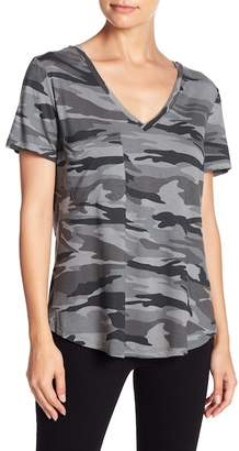 Sweet Romeo Camo V-Neck Pocket Tee