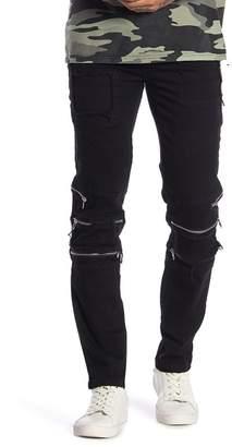 nANA jUDY Tapered Leg Stretch Zip Jeans