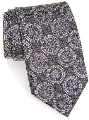 Men's Ermenegildo Zegna Medallion Silk Tie $195 thestylecure.com