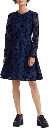 Maje Role Guipure Lace Fit & Flare Dress