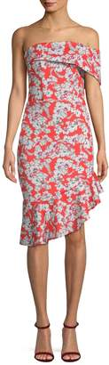 Alexia Admor Women's One Shoulder Floral Midi Dress