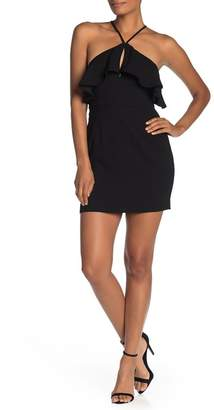 BCBGeneration Ruffle Keyhole Mini Dress