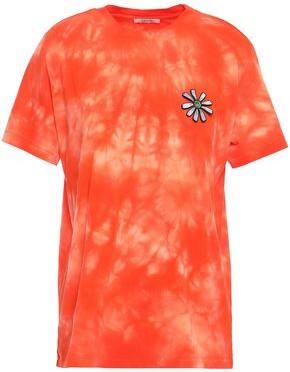 Ganni Tie-dyed Cotton-jersey T-shirt