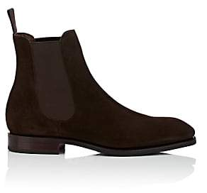 Carmina Shoemaker Men's Suede Chelsea Boots - Dk. brown