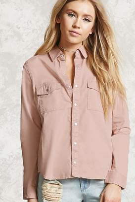 Forever 21 Snap-Button Shirt