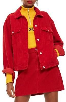 Topshop PETITE Corduroy Boxy Jacket