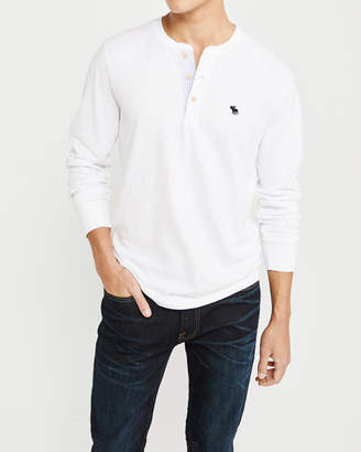 Abercrombie & Fitch Contrast-Placket Icon Henley
