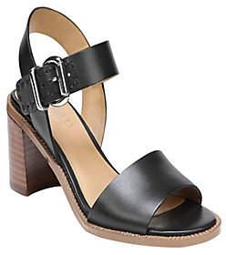 Franco Sarto Block Heel Sandals - Havana