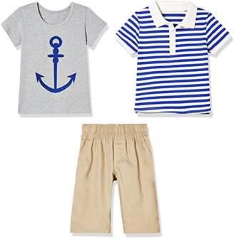 Sprout Star Boy's Sailor Stripe Polo Shirt