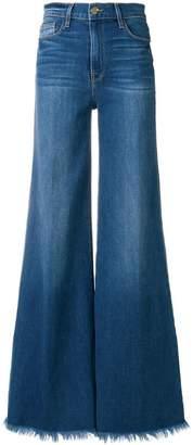 Frame frayed-hem flared jeans