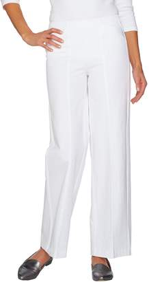 Isaac Mizrahi Live! Regular 24/7 Stretch Pull-On Wide Leg Pants
