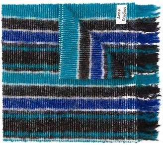 Acne Studios striped open knit scarf