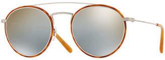 Oliver Peoples Men's Row Ellice Round Metal/Acetate Sunglasses