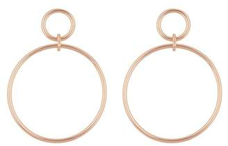 Argentovivo 18K Rose Gold Plated Sterling Silver Double Drop Open Circle Earrings