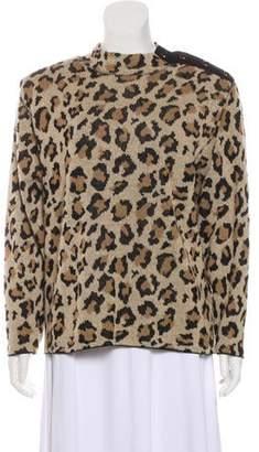 St. John Structured Animal Print Sweater