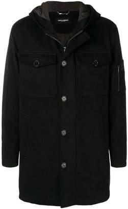 Dolce & Gabbana layered hoodie coat