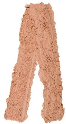 Herve Leger Ruffled Knit Scarf
