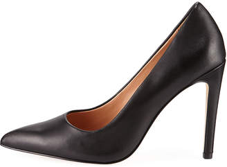 Halston Teri Leather High-Heel Pumps