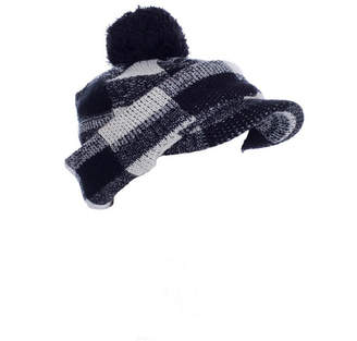 Laura Ashley Hat-Checkered Pom With Neck & Face Guard
