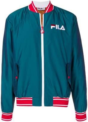 Fila logo embroidered bomber jacket