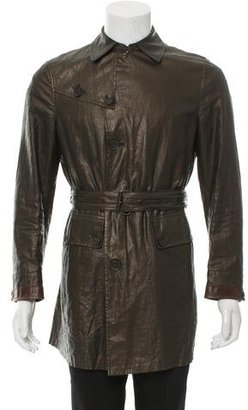 John Varvatos Linen Collared Coat $220 thestylecure.com
