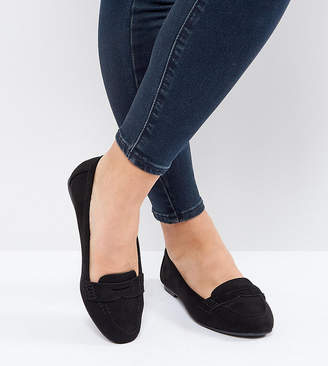 New Look Wide Fit Suedette Loafer