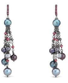 David Yurman Oceanica Fringe Earrings With Grey Pearls And Hematine