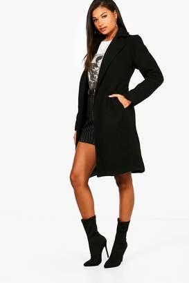 boohoo Ava Belted Wool Look Coat