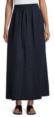 Drawstring Slit Long Skirt