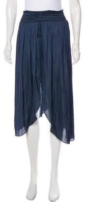 Halston Tie-Accented Midi Skirt w/ Tags