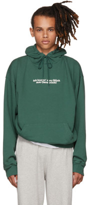 Vetements Green Tourist Hoodie $890 thestylecure.com