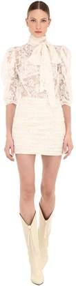 Magda Butrym Labutes Cotton Lace Mini Dress
