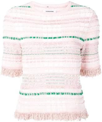 Thom Browne Light Pink Knit Tweed Tee