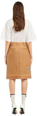 Prada Rubberized Cloth Wraparound Skirt